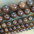"Natural Bronzite Round Gemstone Beads 15.5"" 4mm 6mm 8mm 10mm Pick Size"