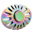 Rainbow colorfull Aluminum metal Hand Finger Fidget Spinner kids toy