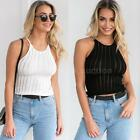 Womens Casual Summer Sleeveless Knit Stretchy Vest Tank T Shirt Blouse Tops K1L1