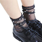 Sexy Women Girls Pearl Lace Socks Fishnet Socks Short Socks Summer Fashion JR