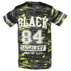 Tee shirt manches courtes Rivaldi black Menfi grey yellow mc tee Gris 58570 - Ne