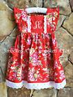 Smocked A Lot monogrammed dress Red Rose Floral Rosie Vintage Birthday pockets