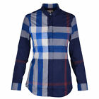 BURBERRY BRIT WOMEN'S CASUAL SHIRT LONG SLEEVE BRIGHT NAVY BLUE