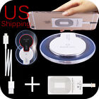 Qi Wireless Charger Pad + Receiver for iPhone 7 6s 6 / Plus 5s Se Charging Kit