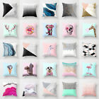 Polyester Cartoon Animal Pillow Case Cover Sofa Waist Cushion Cover Home Decor