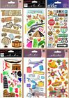 U CHOOSE Sticko FLY AWAY & ROAD SIGNS Dimensional Stickers TRAVEL LUGGAGE