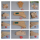 BRIO COMPATIBLE WOODEN TRACK POINTS & CROSSINGS  SEE STOCK MENU FOR SELECTION