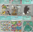 U CHOOSE  Assorted Jolee's BIRDS 3D Stickers hooters owl peacock bath cage robin