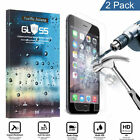 2-Pack Premium Real Tempered Glass Film Screen Protector for iPhone 5/6/6 Plus