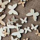 Butterfly Shape Holeless Wood Buttons Scrapbooking Sewing Clothing Craft Gadget
