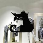 Home Terror Window Shop Decal Glass 3d Decor Wall Sticker Halloween Black Cat