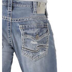 Silver Jeans Men Zac Flap Relaxed Fit Straight Leg Distressed in Light Blue Wash