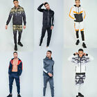 AARHON Mens Tracksuit Set Fleece Hoodie Top Bottoms Jogging Joggers Gym S-XL