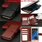 Leather Wallet Card Holder Flip Dual Case Cover For Samsung Galaxy S7 S7 Edge US
