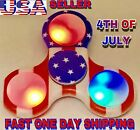 USA FLAG LED TRI SPINNER FIDGET,  CAMOFLAGE, LED, GLOW IN THE DARK, HAND SPIN, ADHD