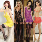Women's Lingerie Babydoll Sleepwear Lace Dress Underwear G-string Nightwear SET