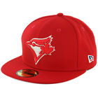 "New Era 59Fifty ""Patriotic Trim"" Toronto Blue Jays Fitted Hat (Red) Mens MLB Cap"