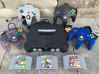 N64 Nintendo 64 Console WITH ORIGINAL CONTROLLERS - SMASH BROS, MARIO KART SUPER