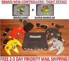 Video Game Consoles - N64 Nintendo 64 Console WITH ORIGINAL CONTROLLERS SMASH BROS MARIO KART SUPER