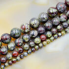 Natural African Dragon  Bloodstone Gemstone Round Spacer Beads 16'' 4mm 6mm 8mm