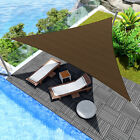 Sun Shade Sail 8' x 8' x 8' Triangle Fabric Outdoor Patio Canopy Awning Cover