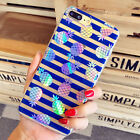 Laser Pineapple Crystal Clear Horizontal Strip Case Cover For iphone 7 6 6S Plus