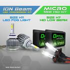 4pc H7 55w HID Low Beam Headlight Xenon Conversion Kit + H11 6000K LED Fog Light