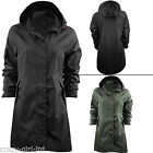 Brave Soul Fishtail Rain Coat Kagool Parka Festival Hood Womens Raincoat Jacket