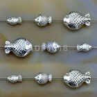 Tibetan Silver Goldfish Bracelet Connector Charm Beads For Jewelry Craft Making