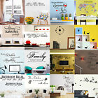 Vinyl Art Home Room DIY Decor Quote Wall Decal Sticker Bedroom Removable Mural O