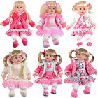 "Childrens Girls 14"" Cute Pink Sitting Doll With Outfit Six Styles To Choose From"