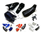 Yamaha PW80 PEEWEE PW 80 Plastic Fender Body Seat Gas Tank Kit Black Blue Red image