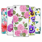 HEAD CASE DESIGNS WATERCOLOUR FLOWERS 2 HARD BACK CASE FOR SONY PHONES 1