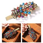 Women Classic Vintage Style Rhinestone Peacock Hair Clip Wedding Party DZ8801