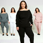 DIVADAMES Womens Plus Size Loose Fit Lounge Wear Tracksuit TS2235-PLUS
