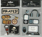 U CHOOSE  Assorted La Petites BOY 3D Stickers pirate tech toys computer phone