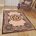 RUGS AREA RUGS 8x10 AREA RUG CARPET LARGE RUGS 5x7 TEXAS STAR WESTERN RUGS ~NEW~