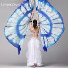 100 Silk Belly Dance isis Wings Scarf Viel Fan  Telescopic Stick Free Shipping