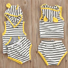 2PCS Toddler Kids Baby Boys Girls Hooded Shirt Tops+Pants Shorts Outfits Clothes