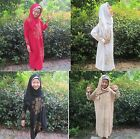 Child Girls Muslim Print Dress Long Sleeve Abaya Arab Islamic Prayer Clothing