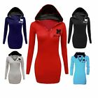 New Ladies Miss Sexy Plain Cotton Long Sleeve Womens hooded Jumper Top (HD051)