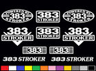 10 DECAL SET 383 V8 POWERED ENGINE STICKERS EMBLEMS 350 400 STROKER VINYL DECALS