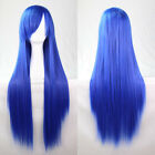 Women 80cm Full Wig Long Straight Cosplay Party Costume Hair Stage Show