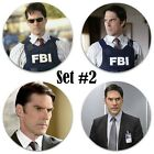 """Thomas Gibson Pinback Buttons or Fridge Magnets Set Of 4 LARGE 2.25"""" Size photo"""