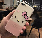 Cute Hello Kitty Matte Silicon Soft Phone Case Cover Shell For iPhone 6/6S 7Plus