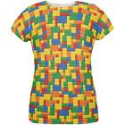 Halloween Building Blocks Costume All Over Womens T Shirt