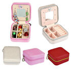 Small Jewelry Organizer Travel Ring Earring Necklace Zipper Case Storage Box