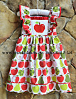 Smocked A Lot Girls Back to School Apple Dress Red Green Flutter Outfit Pictures