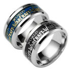 """World of Warcraft 8MM Stainless Steel Ring Band Titanium Men's Ring Size 7""""-13"""""""