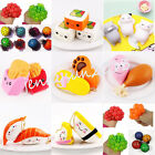Kawaii Soft Squeeze Toy Squishy Grape Sushi Cat Cell Phone Charms Pendant Strap